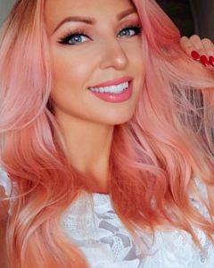 cabello rosa champagne