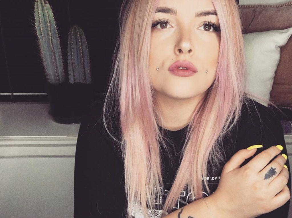 cabello rosa dorado rosa gold _1