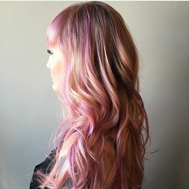 cabello rosa dorado rosa gold _2