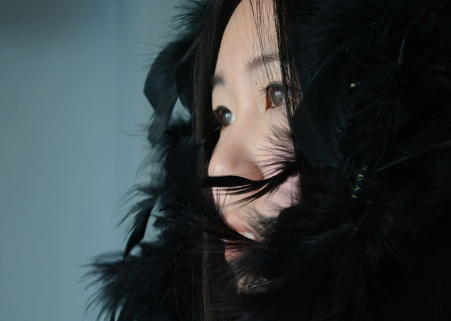 pelo negro asiatico
