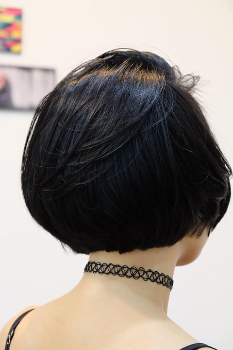 pelo negro corto