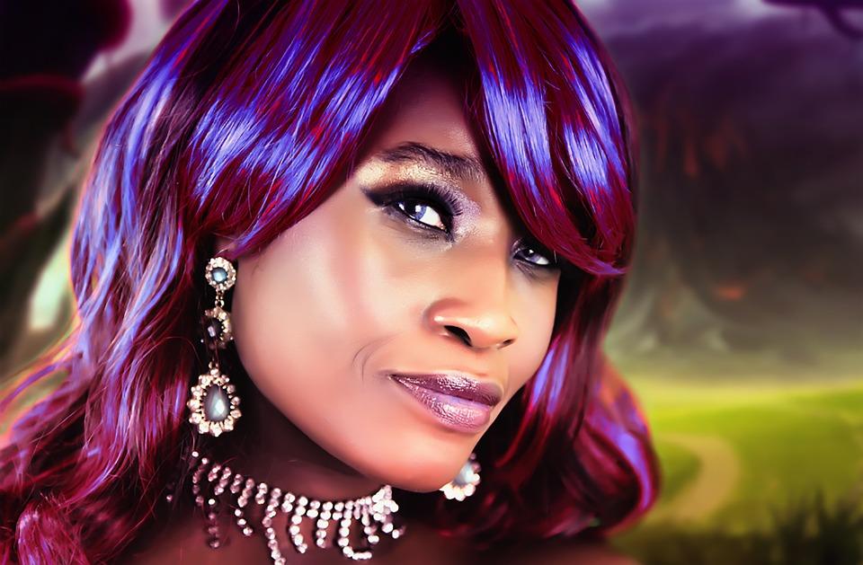 cabello violeta chica guapa 16