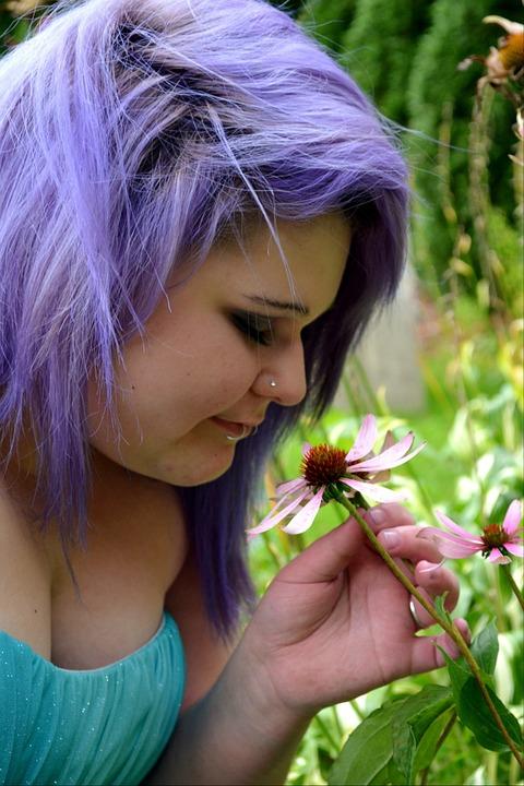 pelo violeta guapa 20