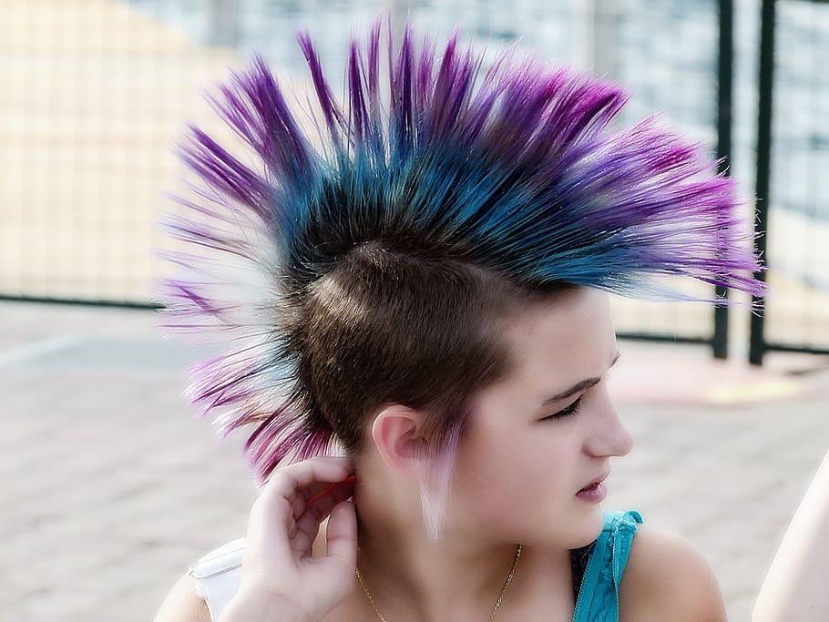 pelo mohicano violeta 5